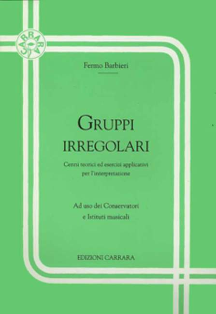 Instruction Books, Cds & Video Dutiful Gruppi Irregolari Barbieri Fermo Theory 9790215747579 Less Expensive